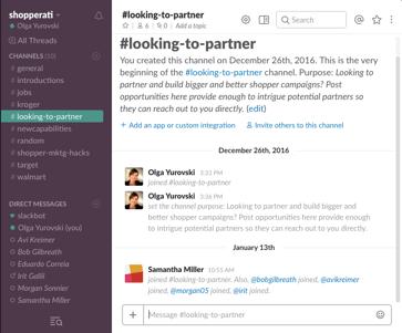 Shopperati Shopper Marketing Community on Slack