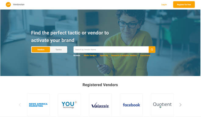 Vendorstan - findd a perfect vendor or tactic to activate your brand